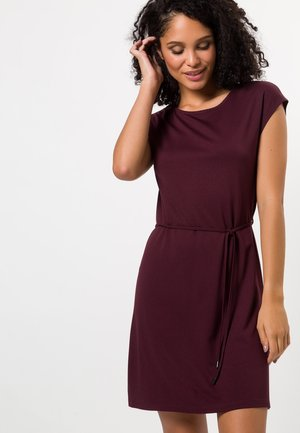 Jersey dress - red grape