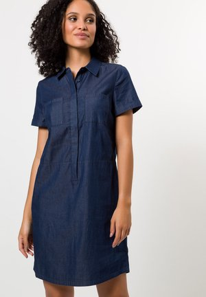 Denim dress - dark blue wash out