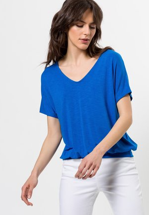 V-AUSSCHNITT - Basic T-shirt - fresh blue