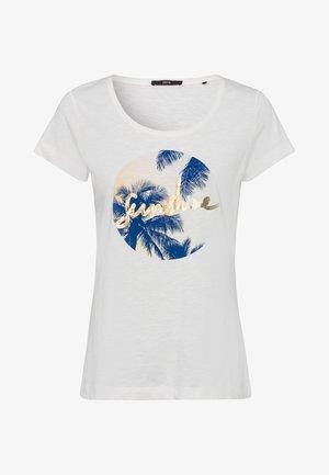 MIT DRUCK - Print T-shirt - offwhite