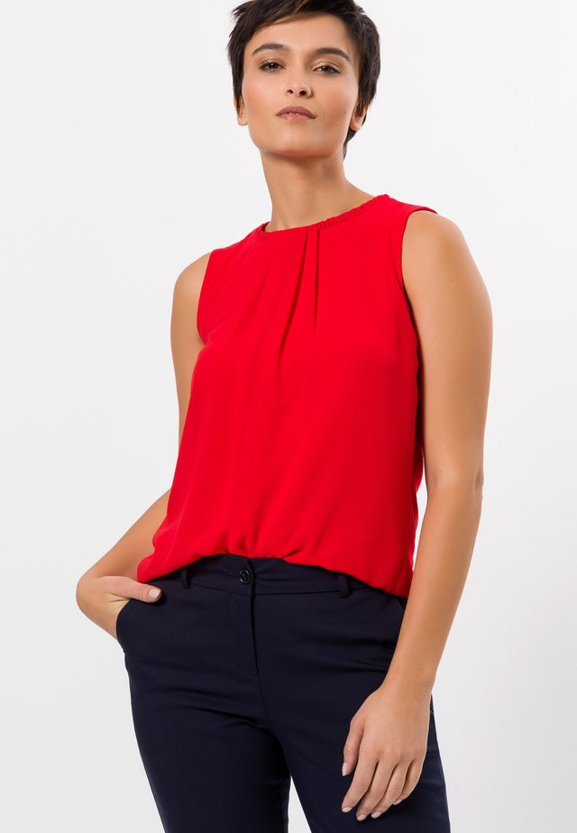 Blouse - sunny red