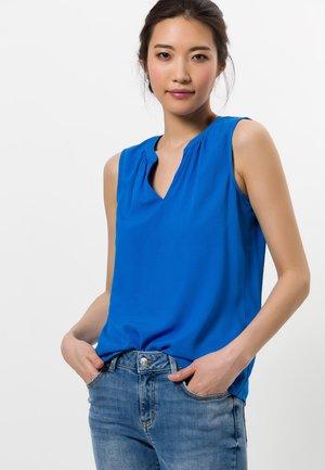 MIT V-AUSSCHNITT - Blouse - fresh blue