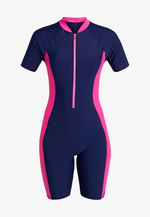 BEGA KNEESUIT - Plavky - navy/pink
