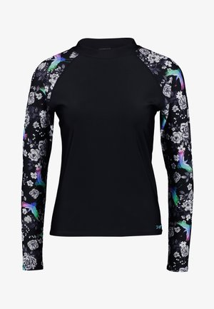 SAKURA LONG SLEEVE - Solbeskyttende drakt - black/multi