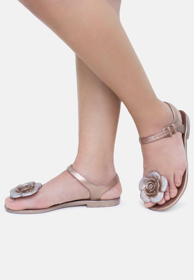 FLOWER - T-bar sandals - champagne
