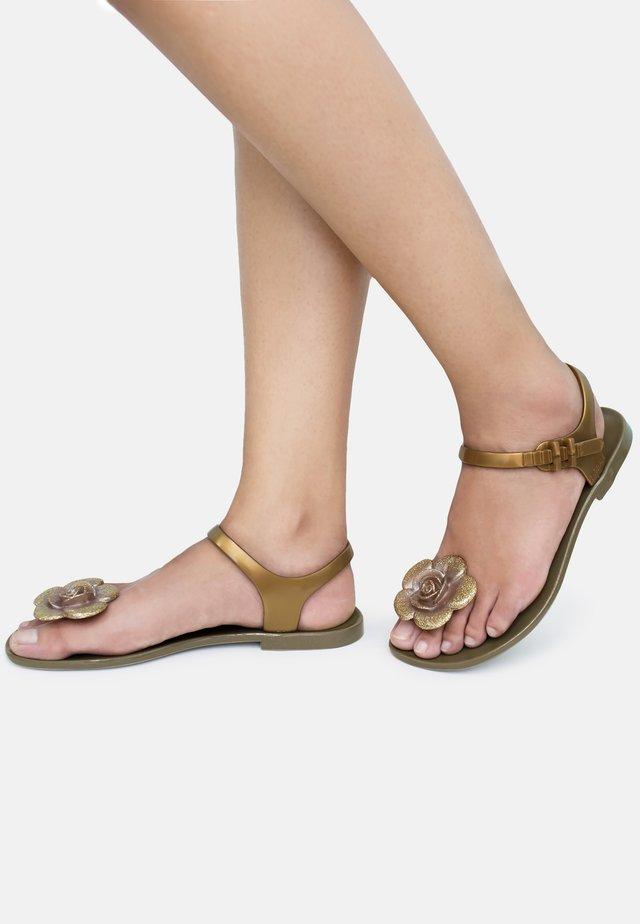 FLOWER - T-bar sandals - gold