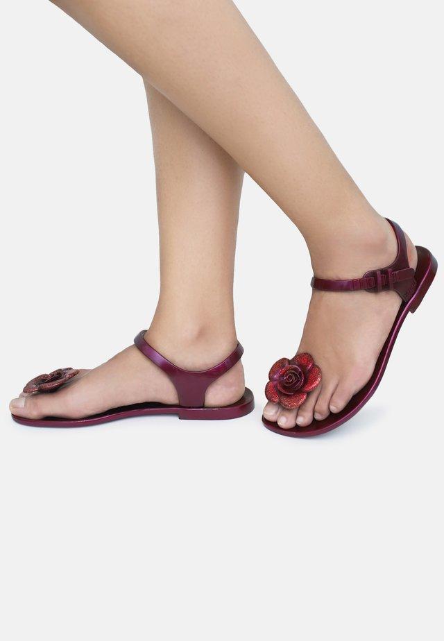 FLOWER - T-bar sandals - red
