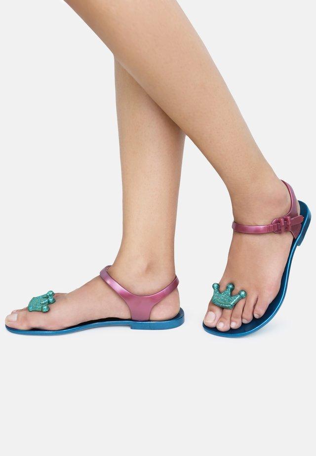QUEEN - T-bar sandals - blue