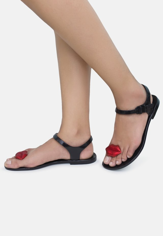 KISS - T-bar sandals - black