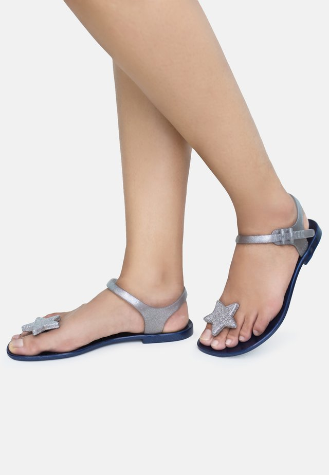 STAR - T-bar sandals - silver