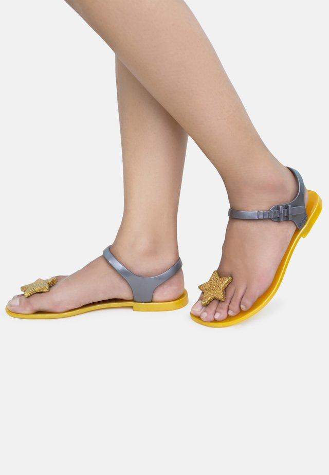 STAR - T-bar sandals - yellow