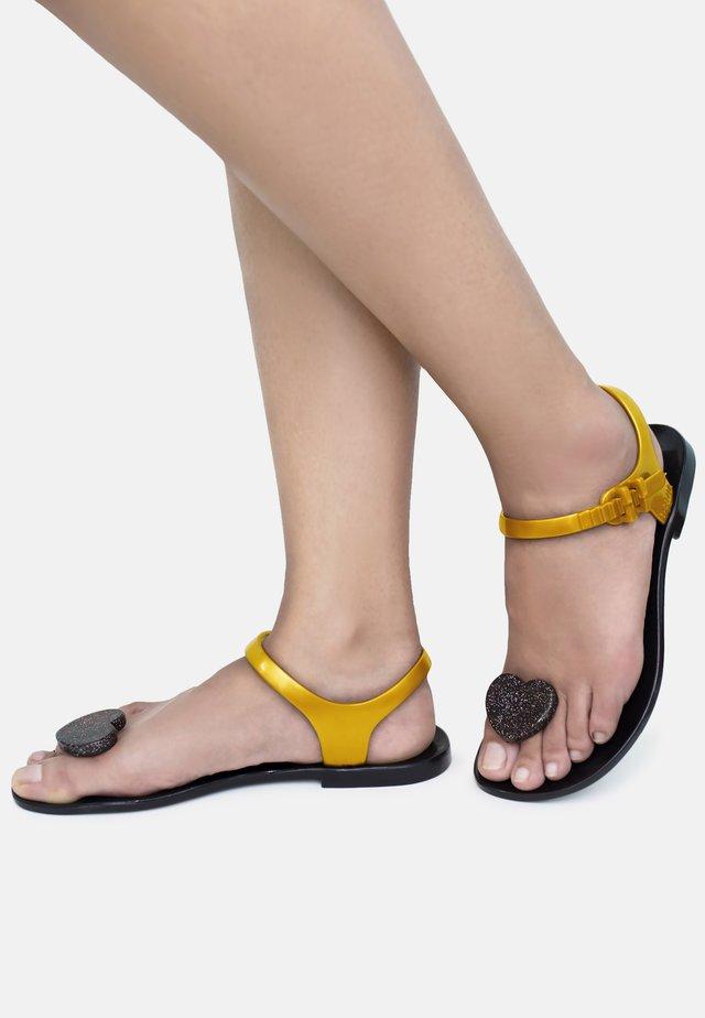LOVER - T-bar sandals - black