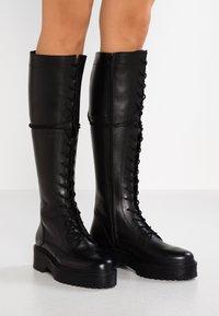 Zign - Vysoká obuv - black - 0