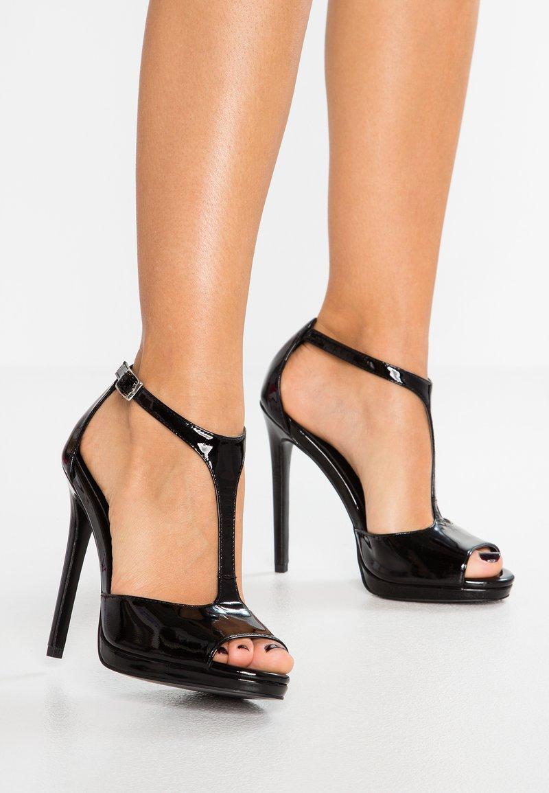 Zign - Korolliset sandaalit - black