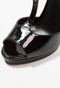 Zign - Korolliset sandaalit - black - 2