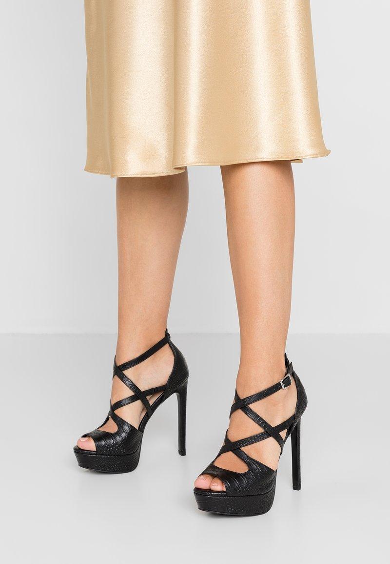 Zign - Sandály na vysokém podpatku - black