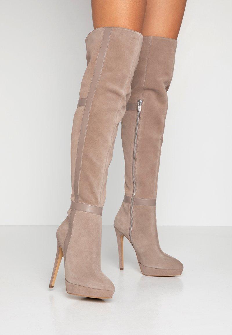 Zign - Laarzen met hoge hak - nude