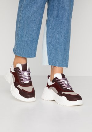 Sneakers - bordeaux/grey