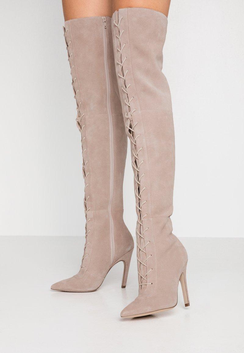 Zign - High heeled boots - nude