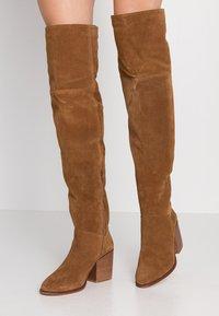 Zign - Over-the-knee boots - cognac - 0