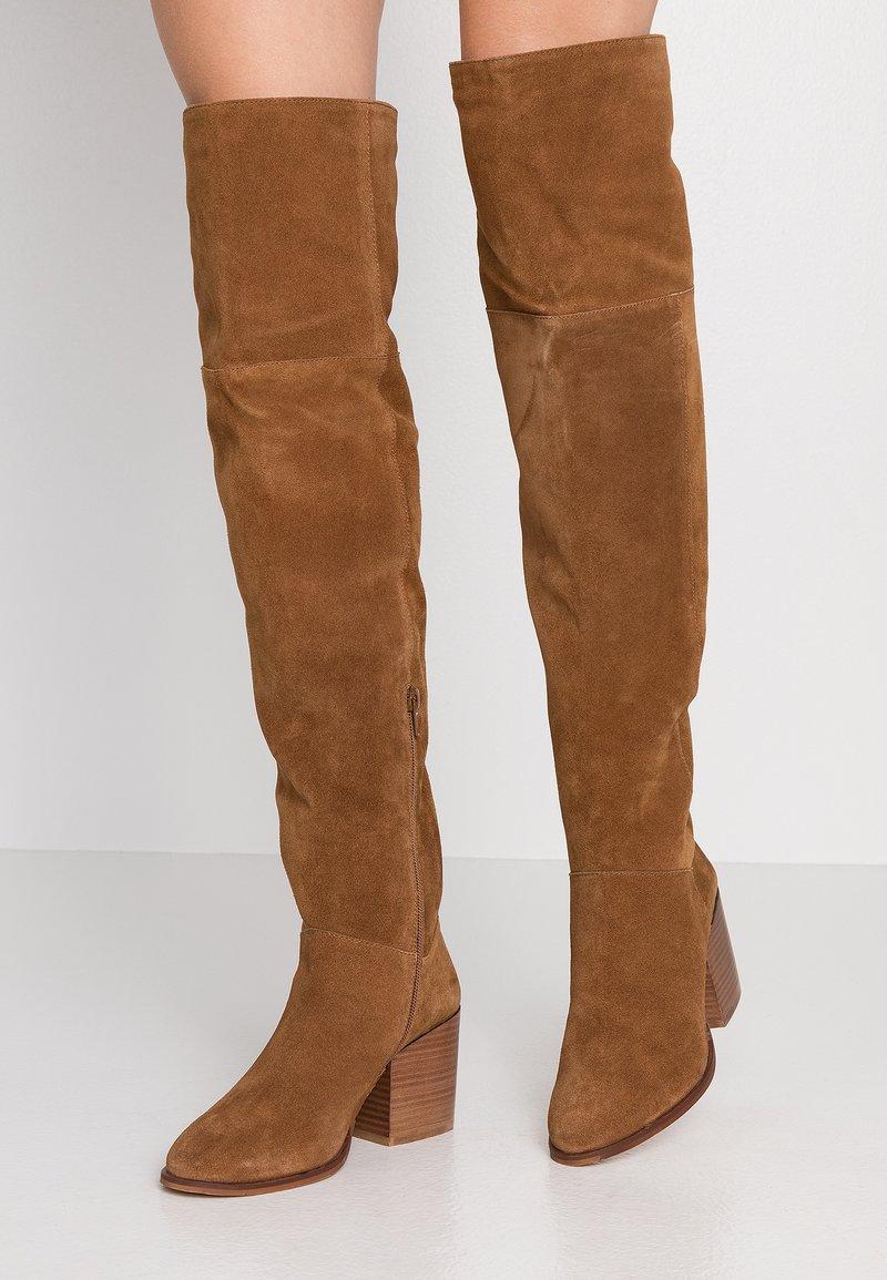 Zign - Over-the-knee boots - cognac