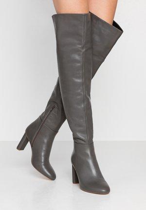 Overknee laarzen - grey