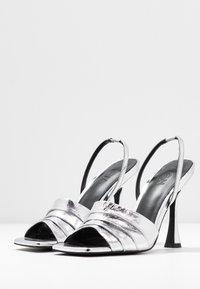 Zign - Sandály na vysokém podpatku - silver - 4