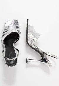 Zign - Sandály na vysokém podpatku - silver - 3