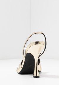 Zign - Sandály na vysokém podpatku - gold - 5