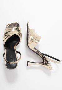 Zign - Sandály na vysokém podpatku - gold - 3