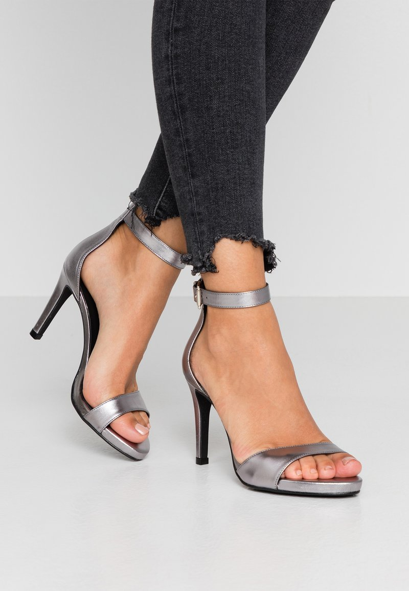 Zign - High heeled sandals - gunmetal
