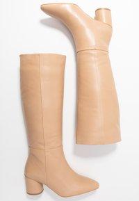 Zign - Stivali alti - beige - 3