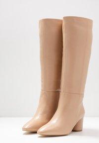 Zign - Stivali alti - beige - 4