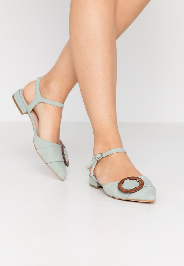 Ankle strap ballet pumps - mint