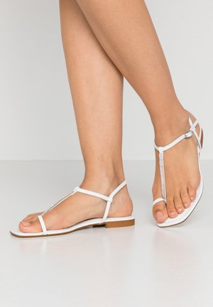 Sandaler m/ tåsplit - white