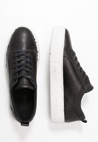Zign - RECYCLED RUBBER SOLE - Tenisky - black - 3