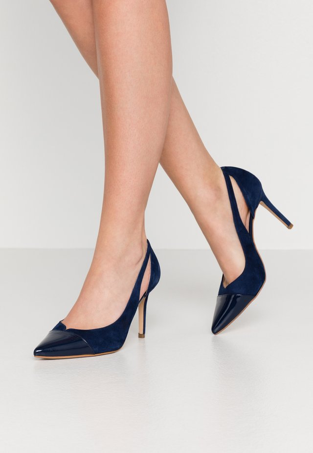 High Heel Pumps - royal blue