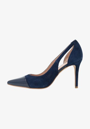 Højhælede pumps - royal blue