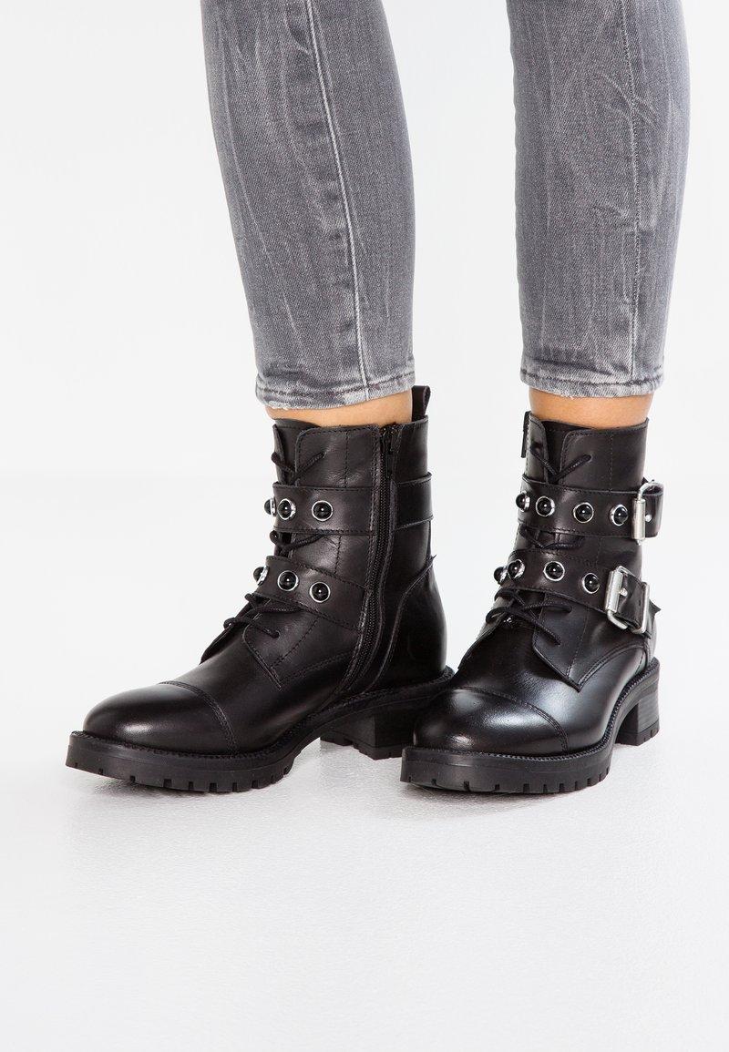 Zign - Cowboy- / bikerstøvlette - black