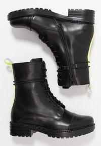 Zign - Snørestøvletter - yellow/black - 4