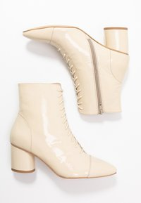 Zign - Lace-up ankle boots - offwhite - 3