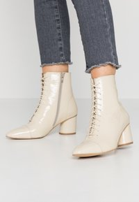 Zign - Lace-up ankle boots - offwhite - 0