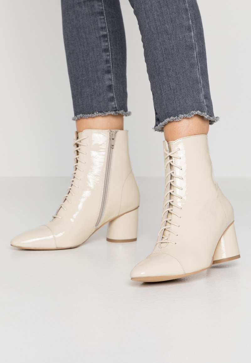 Zign - Lace-up ankle boots - offwhite