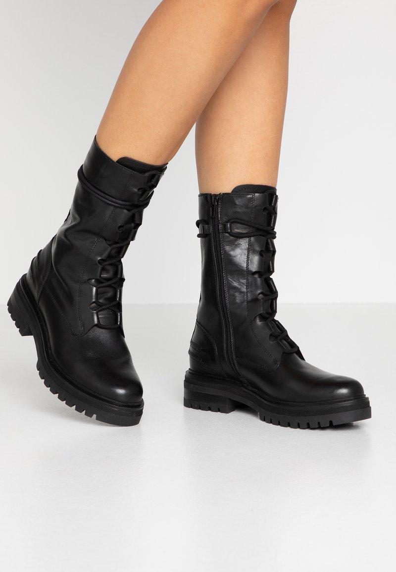 Zign - Platform ankle boots - black