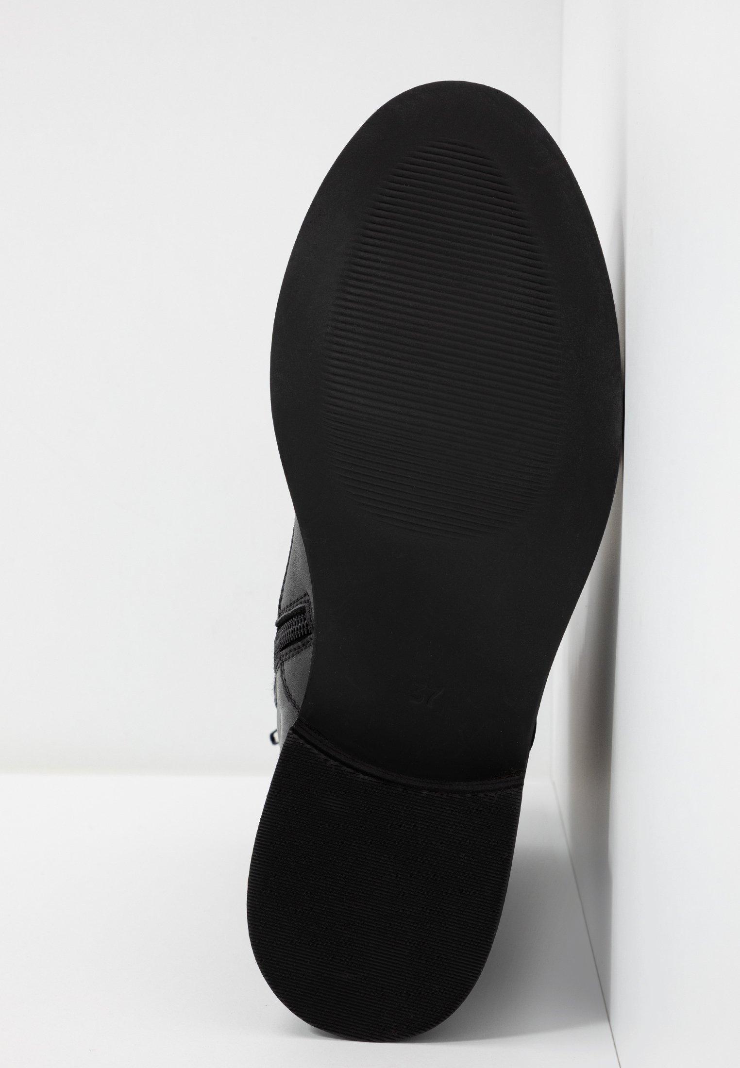 Zign Botki sznurowane - black
