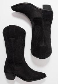 Zign - Kovbojské/motorkářské boty - black - 3
