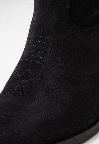 Zign - Kovbojské/motorkářské boty - black - 2