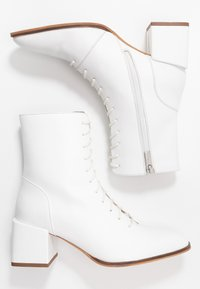 Zign - Lace-up ankle boots - white - 3
