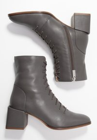 Zign - Botines con cordones - grey - 3
