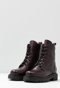 Zign - Platform ankle boots - bordeaux - 4